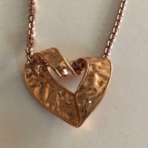 Copper color heart pendant